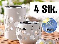 """Lunartec Solar-LED-Leuchte """"Zylinder"""" und """"Kugel"""", 4er-Set von Lunartec bei Lampenhans.de"""