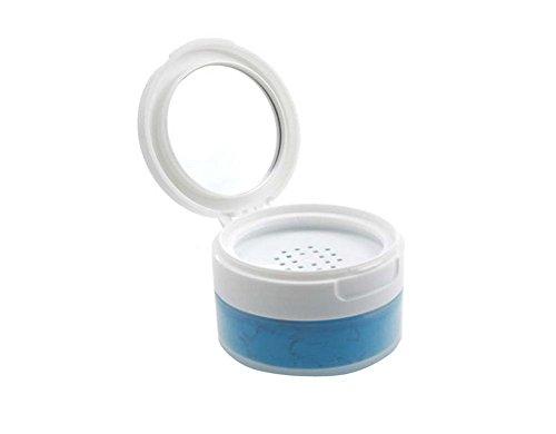 1pcs 50ML ML portable vacío rellenable Powder Puff caja contenedor soporte caso acabado de gran para polvo suelto colorete en polvo de polvo de maquillaje de almacenamiento (blanco)