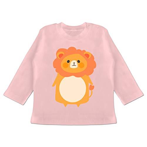 g Baby - Fasching Kostüm Löwe - 6-12 Monate - Babyrosa - BZ11 - Baby T-Shirt Langarm ()