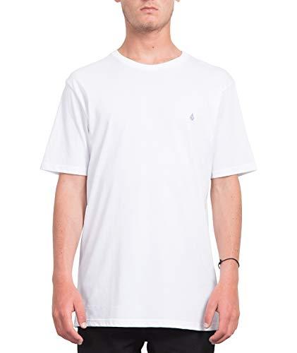 Volcom Herren Stone Blank BSC S/S T-Shirt, White, L - Volcom-logos