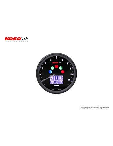 KOSO Compteur Multifonctions Neo Retro 64mm TNT Noir