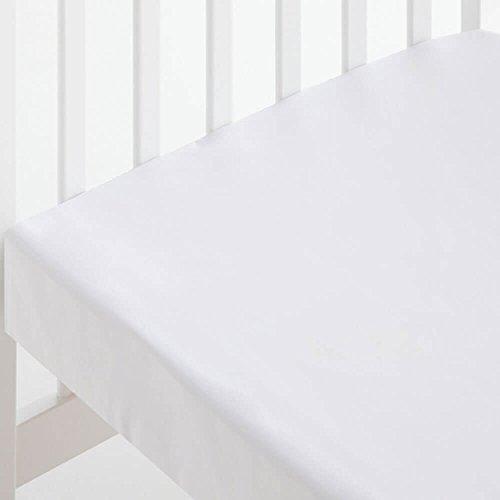 Bebelindo Sábana Bajera ALGODÓN Cuna (60x120 cm) blanco