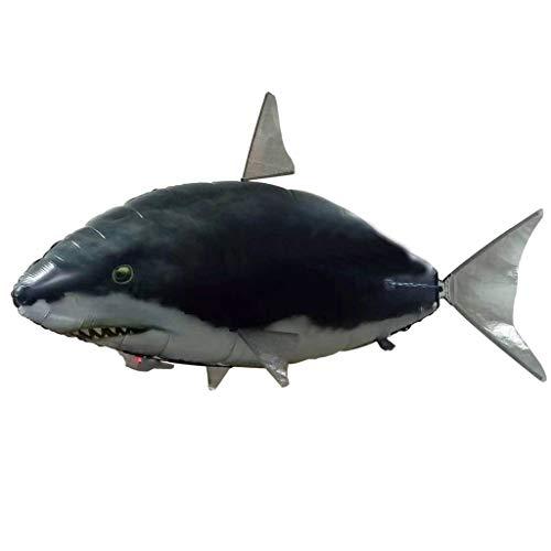 99native RC Ferngesteuerter Fliegender Hai-Fisch, Fliegender Fisch Spielzeug Air Flying RC Fernbedienung Flying Shark Toy Kinder Aufblasbare Geschenk Weihnachten (Blau2)