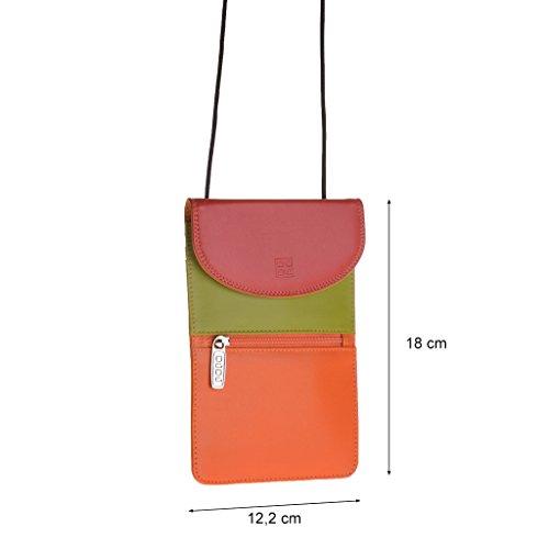 Dudu - Sac porté épaule en cuir - Colorful Collection - Barbara - Rouge
