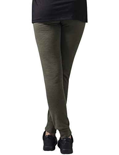 Urban Classics Damen Hose Ladies Fitted Slub Terry Pants Grün (olive 176)