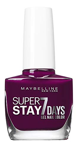 Maybelline New York - Vernis à Ongles Professionnel - Technologie Gel - Super Stay 7 Days - Teinte : Ever Burgundy (270)