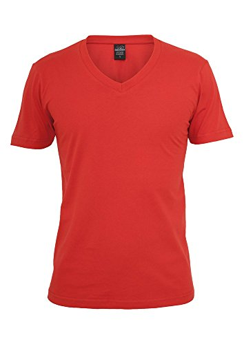 urban classics basic v neck tee Red