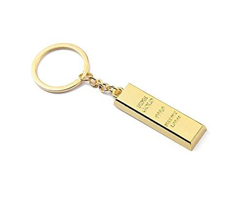 Desconocido Llavero de imitación de oro de ley 999er, 2 piezas