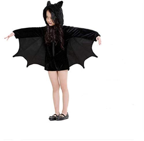 Kostüm Batman's Eltern - DXXMD Halloween Kostüm Schwarzer Mann Fledermaus Eltern-Kind-Kleidung Kind Weiblicher Plüsch Batman 121-135Cm