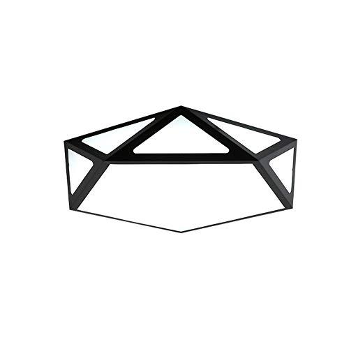 Morden LED Deckenleuchte Dimmbar mit Fernbedienung Licht einstellbar leuchtenden geometrischen Metall und Acryl Wohnzimmer Esszimmer Küche Schlafzimmer Studie Innenbeleuchtung Ø48 * 11CM 24W 1680LM - Case Study-metall