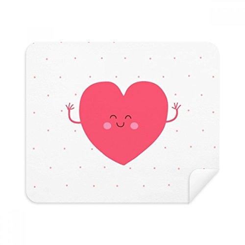 DIYthinker Valentinstag Rosa Nettes Lächeln Gesicht Herz Telefon Screen Cleaner Gläser Reinigungstuch 2Pcs Suede Fabric
