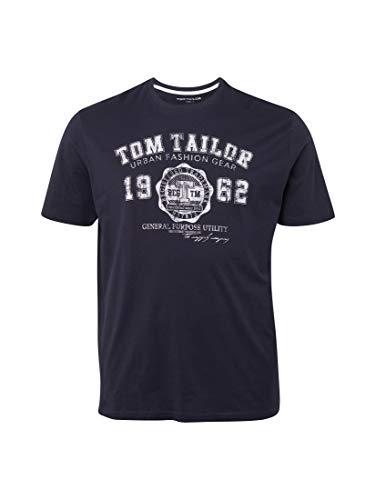 537bd1fa8a5815 TOM TAILOR für Männer T-Shirts Tops T-Shirt mit Logo-Print Knitted Navy