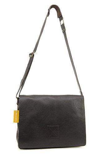 """Umhängetasche / für Laptop geeignete Tasche """"Pedro"""" von Ashwood - GRÖßE: B: 39 H: 28 T: 10 cm Dunkelbraun"""