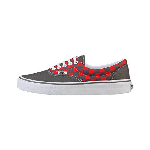 Vans - Era Unisex, Scarpe sportive Donna grigio / rosso