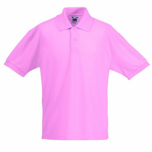 Fruit of the Loom Jungen T-Shirt Ss132b Rosa - Light Pink