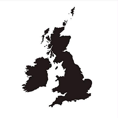 Zxfcczxf Die Großbritannien Karte Wasserdichte Wandaufkleber Wohnzimmer Pvc Abnehmbare Selbstklebende SchlafzimmerWandtattoos Wohnkultur 55 * 83 Cm