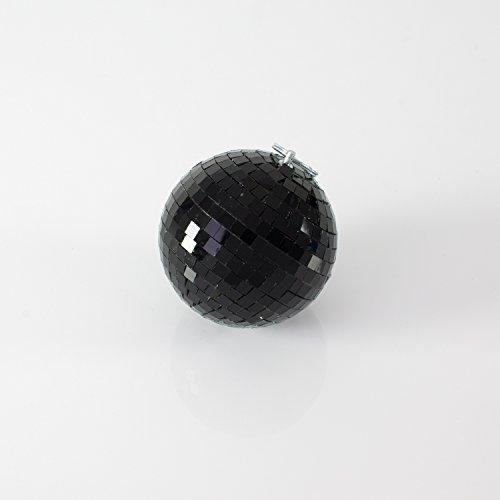 Kleine Discokugel NOIR mit Echtglasfacetten, Ø 10 cm, schwarz -dunkle Spiegel Kugel - Disco Ball - showking