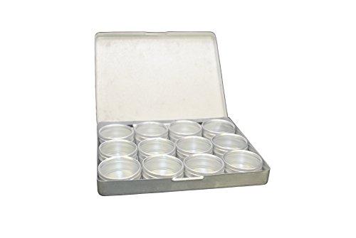 Proops 5x Aluminium 12klar Aufbewahrungsboxen in Tablett, 39mm Dia Töpfe. Perlen, Ergebnisse, Jump Ringe. (s7775) versandkostenfrei innerhalb UK (Dia-aufbewahrungsbox)