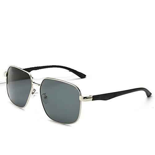 Z&HA Männer-und Damensonnenbrille Retro Großer Rahmen Flachspiegel Gold Grenze Anti UV Glare Fahrtrieb-Brille,03