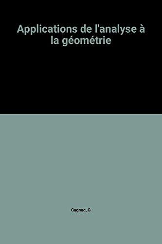 Applications de l'analyse à la géométrie