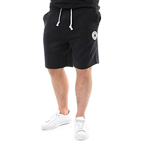 Converse Hombre Left Logo Sweat Shorts, Negro