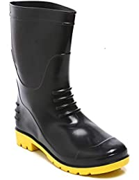 "Agarson Full PVC Dual Density High Ankle Gum Boots (12"" Height); BAHUBALI, Size-10"