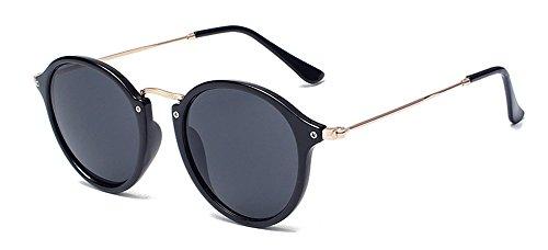 Outray Vintage Retro runde bunte Sonnenbrille 2133c1 Schwarz