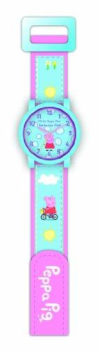 Peppa Pig PEP61A 1412 - Reloj analógico de cuarzo unisex, correa de nailon