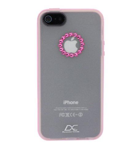 Diamond cover 305096 - cover con cristalli swarovski per apple iphone 5/5s, colore: rosa