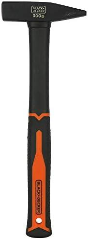 مطرقة معدنية دي اي ان من بلاك اند ديكر وزن 7 اونصة، 300 غرام مع مقبض من الالياف الزجاجية، لون برتقالي/اسود - B