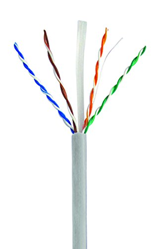 Mach Power cm-005 Kabelspule UTP CAT6, Kupfer, 24 AWG, 0.5 mm, 305 m, grau (Patch Awg 24 Cord)
