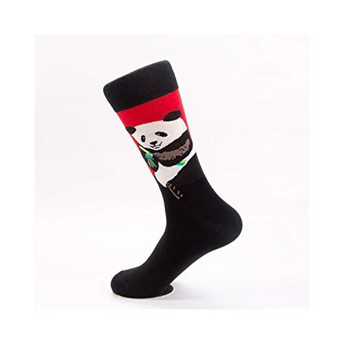 gthytjhv Crew Socken, Kleidersocken Packung, Novelty Cute Animal Men's Funny Socks New Products In Autumn Winter Man Happy Socks Colourful Combed Cotton Skateboard Sock Black One Size