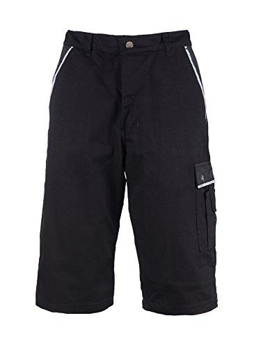TMG® Cargo-Shorts/Arbeitshose - strapazierfähig - für den Sommer - Schwarz (W42 / EU58)