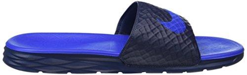Nike Benassi Solarsoft Slide 2, Plage et Piscine Homme Bleu (Midnight Navy/Lyon Bleu)