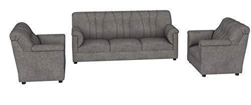 Roman Living Hastings 3+1+1 Seater Fabric Sofa Pack (Grey)