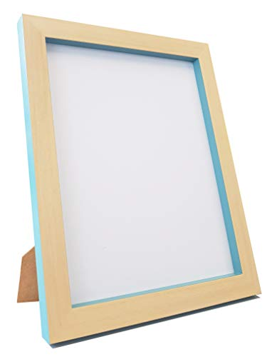 Frames by Post Bilderrahmen, recycelter Kunststoff, Buche/Blaugrün, Größe A4