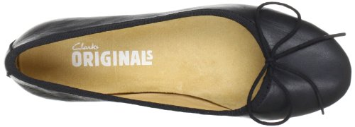 Clarks Originals - Lia Grace, Scarpe chiuse Donna Nero (Black Leather)