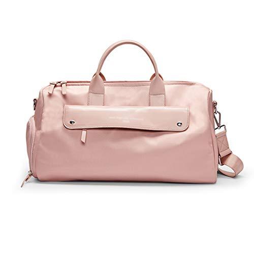 Sporttasche Großraum-Handtaschengepäck Trocken- und Nassabscheidung Fitness-Kurzstrecken-Schwimmsporttasche Fitnesstasche Reisetasche (Color : PinkA)