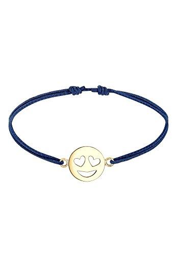 emoji armband Elli Damen-Armband Smiley Icon Emoji Herz Liebe Herzaugen Liebe Verliebt vergoldet silber 925 0201360417_16