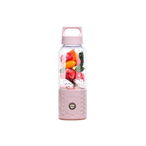 LT&NT Home Portable Juicer Mixer, 150W/500mm USB Electric Mixer, Kinder Frühstück, Milchshake, Ice Maker, Outdoor persönlichen Reise-Sport-Cup, pink