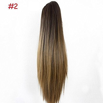 Style 2 : Bodhi2000 Women Ladies Long Straight Hair Extensions Clip Ponytail Hair Extensions Wig Hairpiece