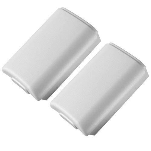 Assecure Ersatz Weiß Akku cover Halter für microsoft xbox 360 controller (Xbox 360 Cover Pack)