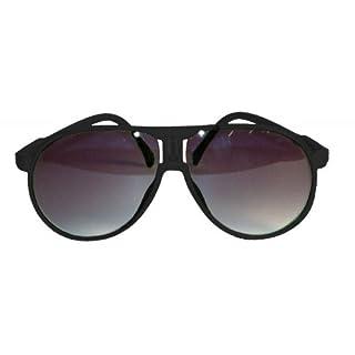 Sonnenbrille Brille Scarface verschiedene Farben Sunglasses Schlagerparty Disco (Schwarz)