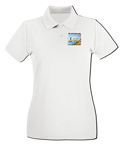 T-Shirtshock - Polo pour femme TDA0096 van gogh48 il ponte levatoio Blanc