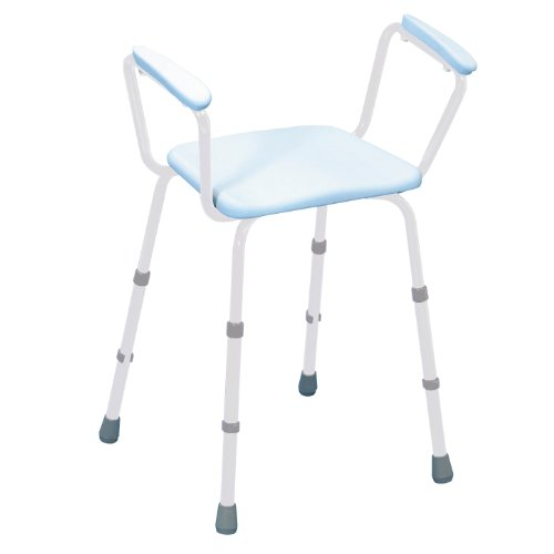 sherwood-height-adjustable-pu-perching-shower-stool-with-padded-arms