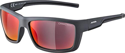 Alpina Unisex- Erwachsene Slay Sportbrille, grau, One Size