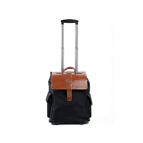 GJF Trolley Rucksack 2019 New Multifunktions-Rucksack mit Rollen Oxford Tuch Tasche Schultasche Business Urlaub Reisen 2 Large (Frauen Rolling Laptop Tasche)