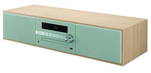 Pioneer X-CM56D HiFi-Micro-System (CD-Player, Lautsprecher, DAB+, UKW Radio, Bluetooth, USB, MP3, 2 x 15 Watt) Kompaktanlage für Küche, Wohnzimmer, Schlafzimmer und Büro, Mint