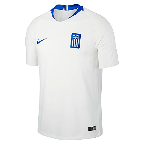 Nike Herren Greece Stadium Home SS Trikot, White/Hyper Cobalt, S