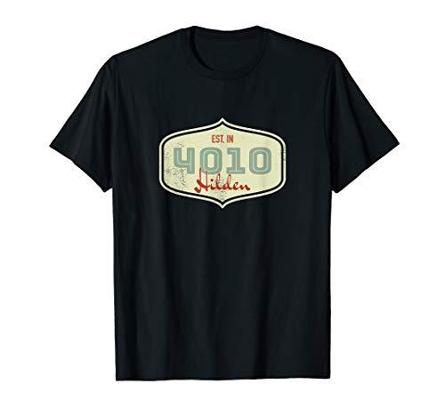 4010 Hilden - Alte Postleitzahl - Geschenk Shirt